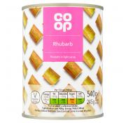 Co Op Rhubarb In Light Syrup