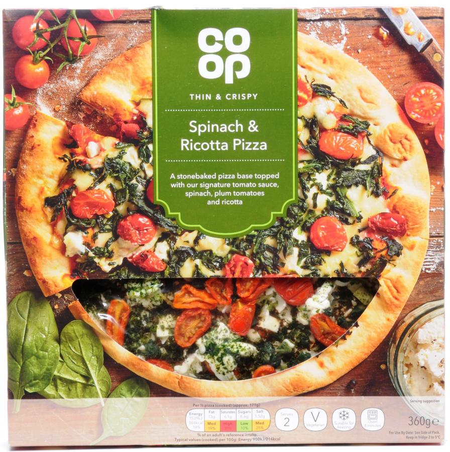 Dike Son Co Op Spinach And Ricotta Pizza