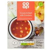 Co Op Tomato and Basil with Croutons Cup Soup