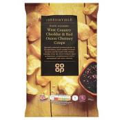 Co Op Irresistible West Country Cheddar and Red Onion Crisps