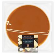 Co Op Irresistible White Chocolate and Salted Caramel Cheesecake