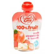 Cow and Gate 100% Fruit with Vitamin C Apple Strawberry and Banana