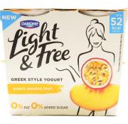 Danone Light and Free Peach Passionfruit