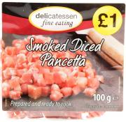Delicatessen Fine Eating Smoked Diced Pancetta