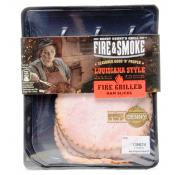 Fire and Smoke Louisiana Style Fired Grilled Ham Slices