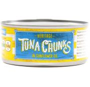 Heritage Tuna Chunks In Sunflower Oil