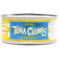 Heritage Tuna Chunks In Sunflower Oil image