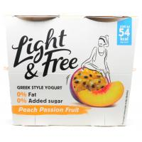Danone Light and Free Peach Passion Fruit image