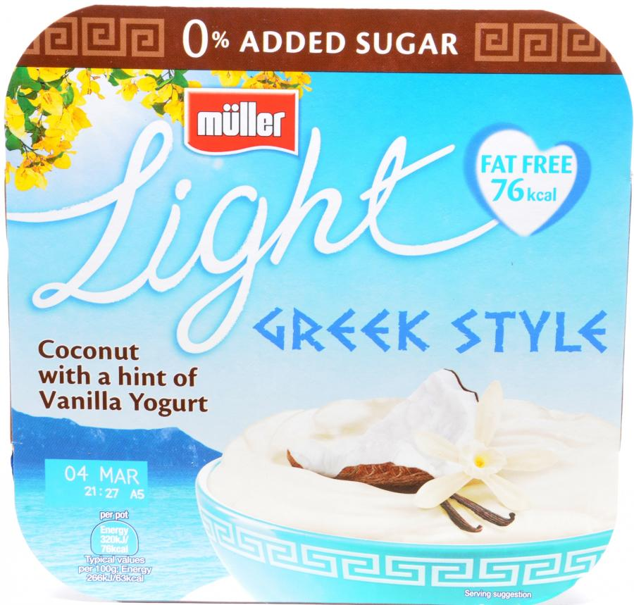 Dike & Son - Muller Light Greek Coconut And Vanilla