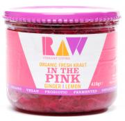 Raw Organic Fresh Kraut in The Pink Ginger and Lemon