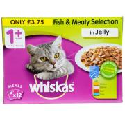 Whiskas 1+ Fish and Meat Selection in Jelly