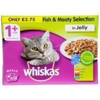 Whiskas 1+ Fish and Meat Selection in Jelly image