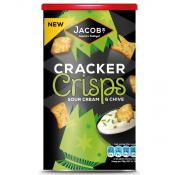 Jacobs Cracker Crisps Sour Cream and Chive Caddy