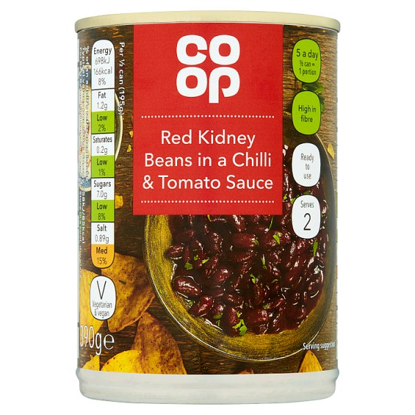 Dike Amp Son Co Op Red Kidney Beans In A Chilli And Tomato