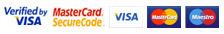 Credit and Debit cards accepted: Visa, Mastercard, Visa Debit, Maestro